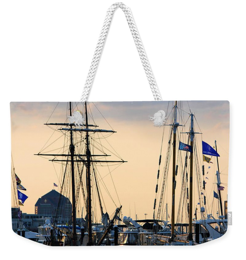 Boats Weekender Tote Bag featuring the photograph Blue Flags by Carolyn Stagger Cokley