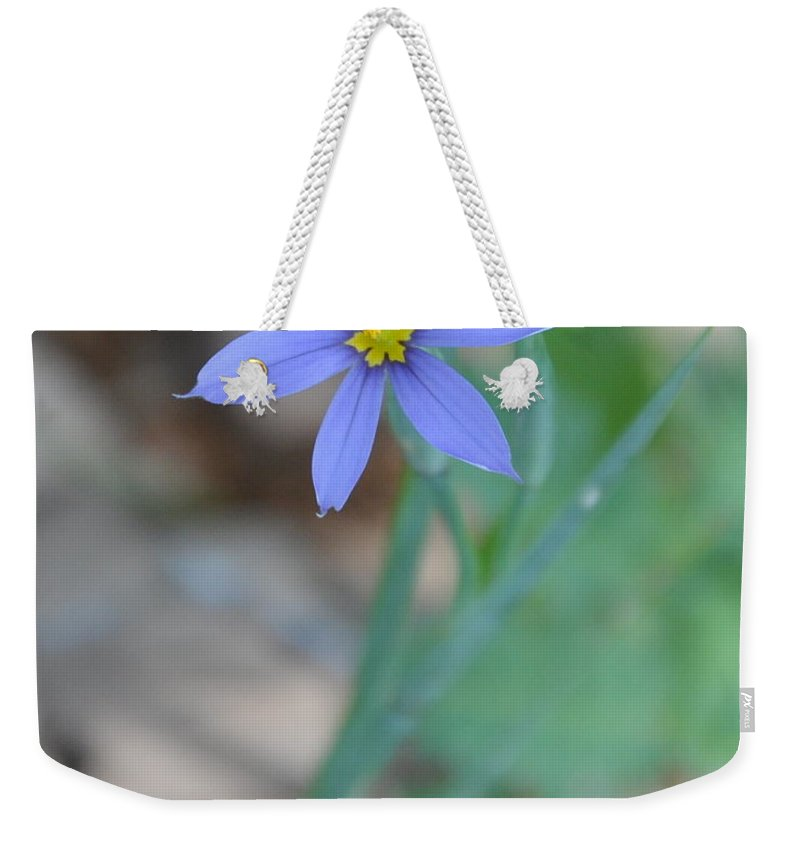 Blue Weekender Tote Bag featuring the photograph Blue Flower by Frank Madia