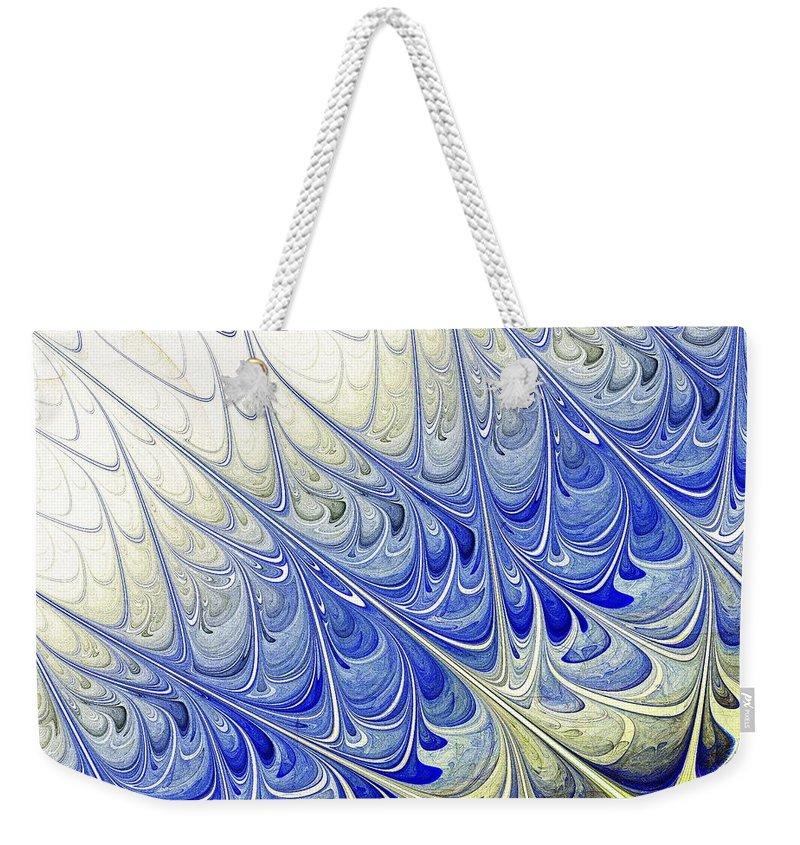 Malakhova Weekender Tote Bag featuring the digital art Blue Folium by Anastasiya Malakhova