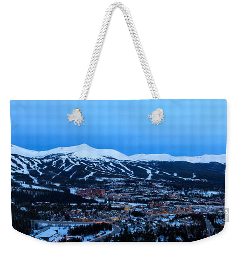 Breckenridge Weekender Tote Bag featuring the photograph Blue Hour In Breckenridge by Ronda Kimbrow