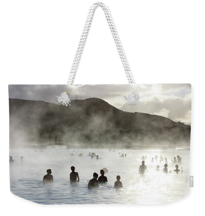 Spa Weekender Tote Bag featuring the photograph Blue Lagoon Geothermal Spa by Thomas Janisch