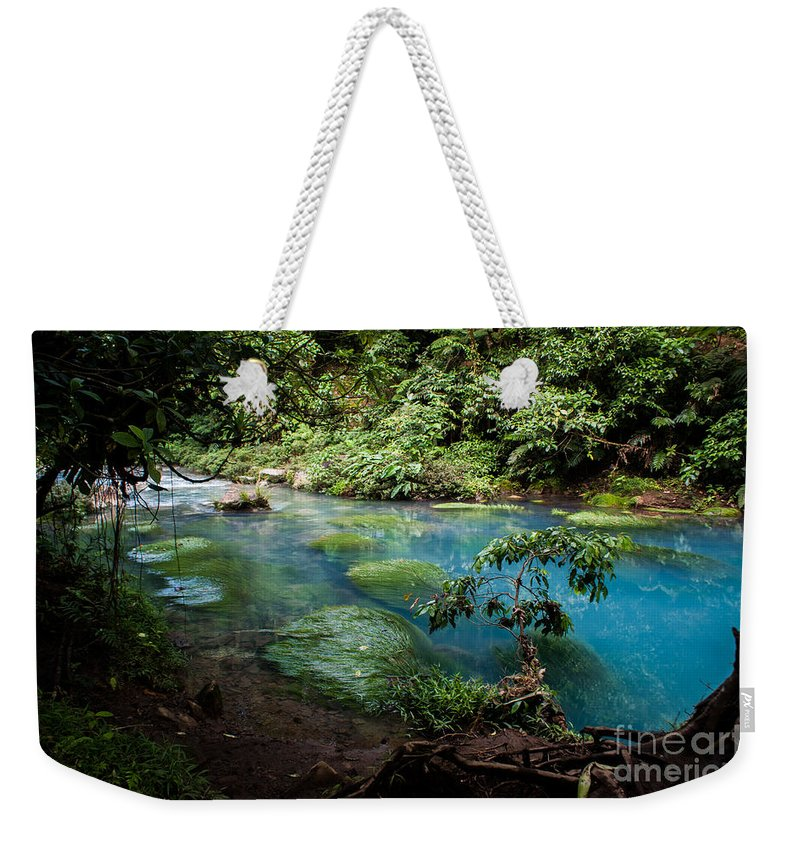 Costa Rica Weekender Tote Bag featuring the photograph Blue Lagoon by Nick Mosher