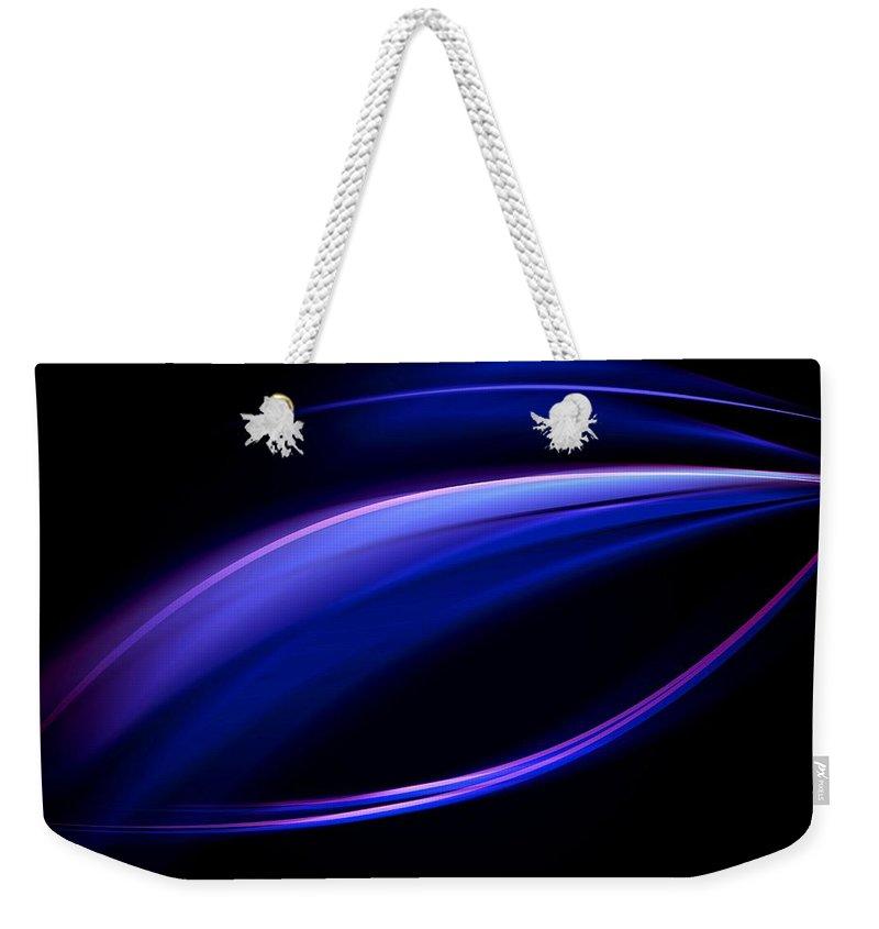 Fantasy Art Prints Weekender Tote Bag featuring the digital art Blue Purple Light by Monique's Fine Art