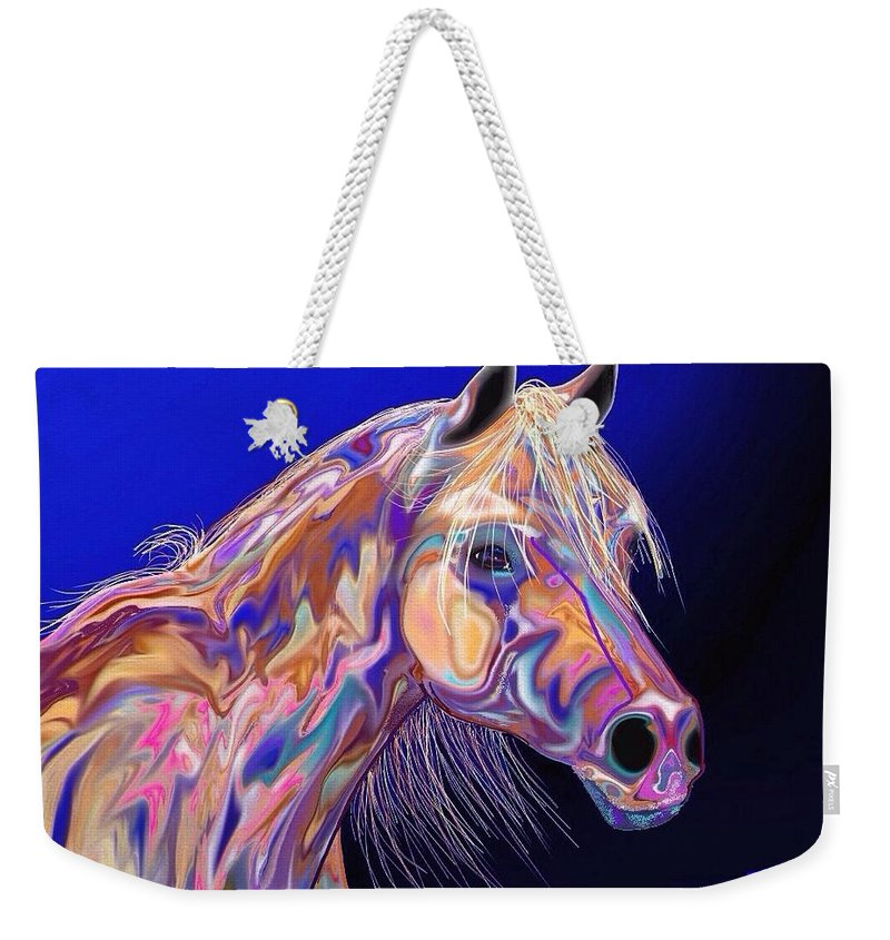 Horse Painting/prints Weekender Tote Bag featuring the painting Blue by Marie Clark