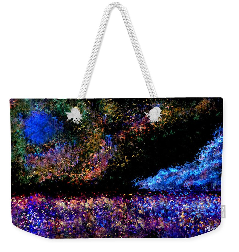 Watercolor Weekender Tote Bag featuring the painting Blue Moon by Paula Ayers