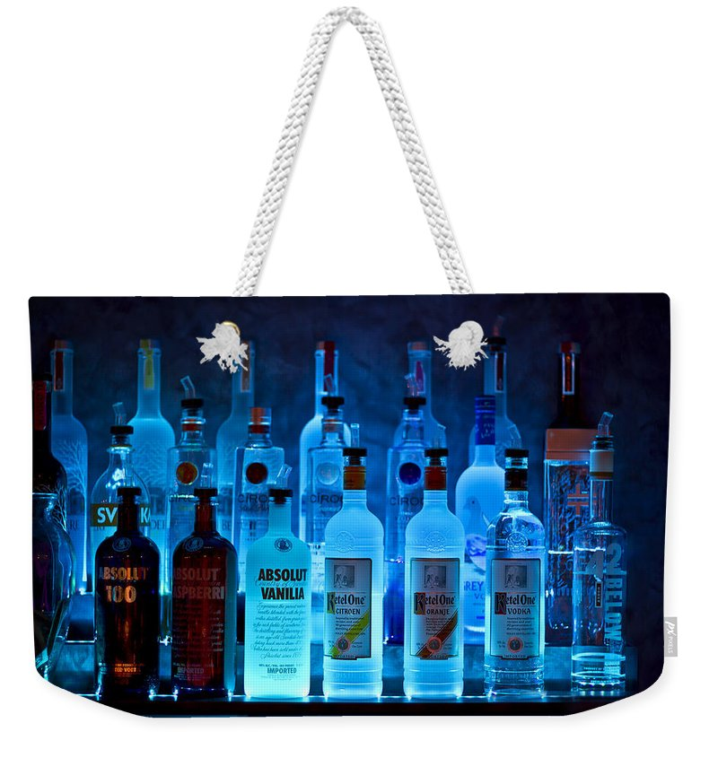 Blue Weekender Tote Bag featuring the photograph Blue Night Shadows by Evelina Kremsdorf