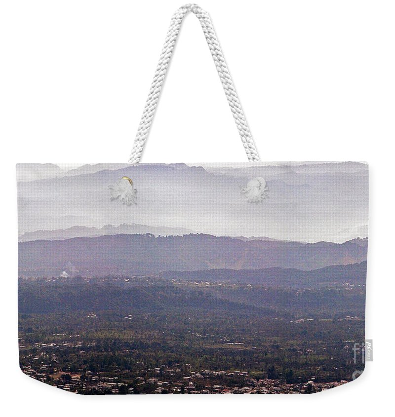 Dharamsala Landscape Hills blue Remebered Hills Weekender Tote Bag featuring the photograph Blue Remembered Hills by Neil Pollick