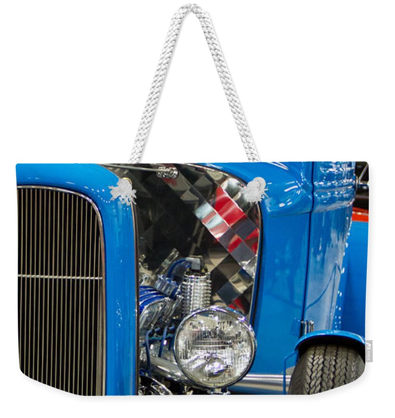 Transport Weekender Tote Bag featuring the photograph Blue Retro Beauty by Eti Reid