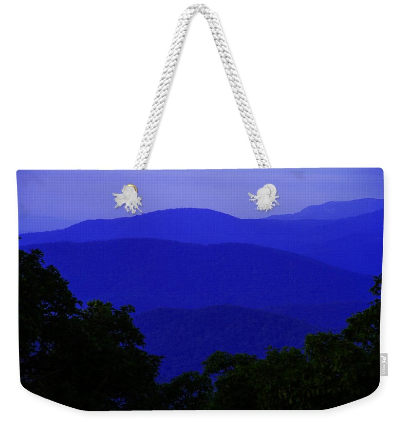 Blue Ridge Weekender Tote Bag featuring the photograph Blue Ridge Mountains by Guy Shultz