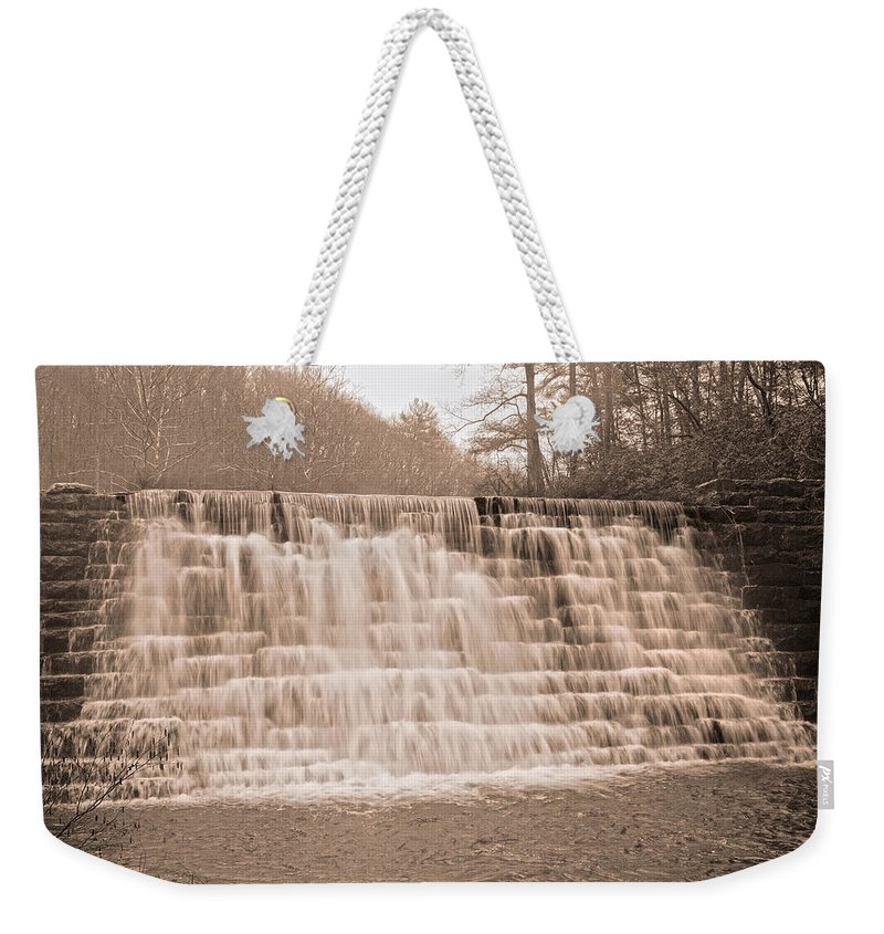 Waterfall Weekender Tote Bag featuring the photograph Blue Ridge Parkway Rainy Day by Betsy Knapp