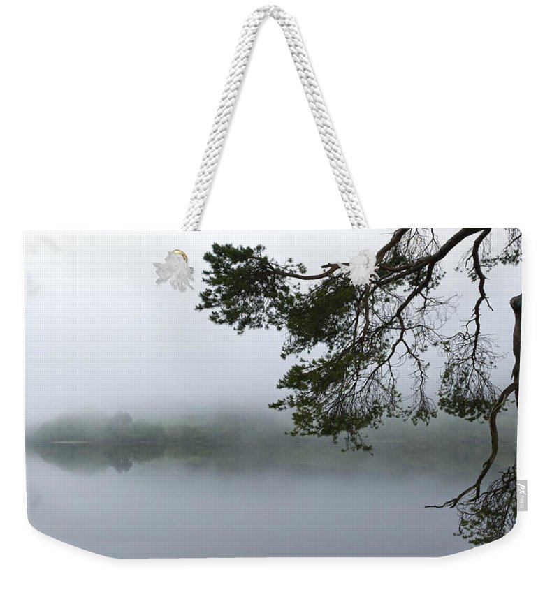 Mist Weekender Tote Bag featuring the photograph Blue Rope by Gary Eason