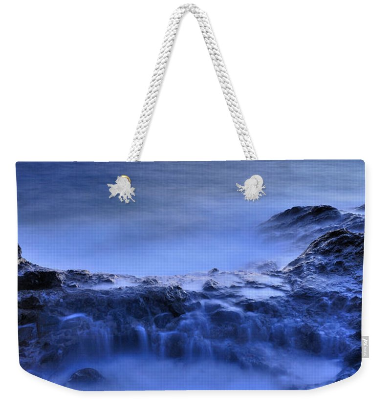Seascape Weekender Tote Bag featuring the photograph Blue Seaside by Guido Montanes Castillo