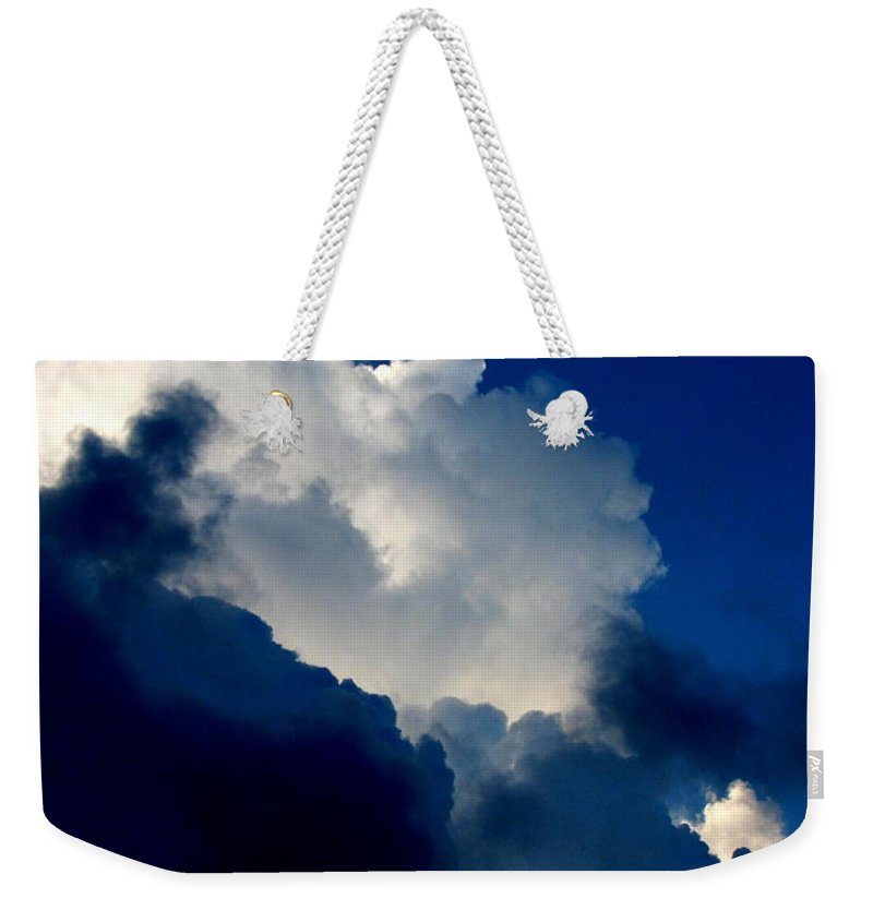 Patzer Weekender Tote Bag featuring the photograph Blue Skies by Greg Patzer