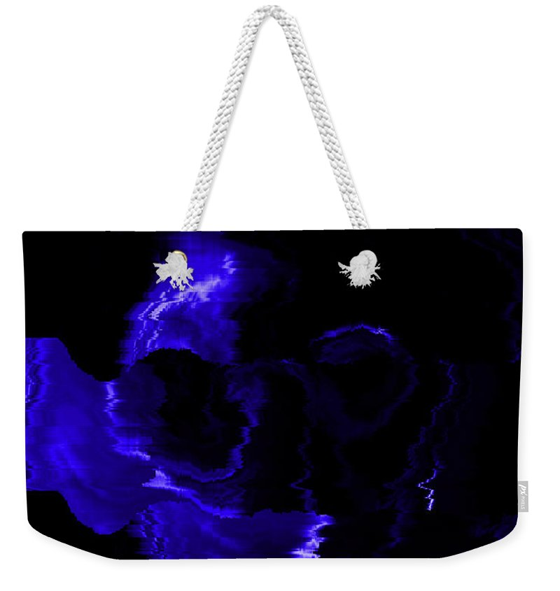 Skeleton Weekender Tote Bag featuring the photograph Blue Skull by Mechala Matthews