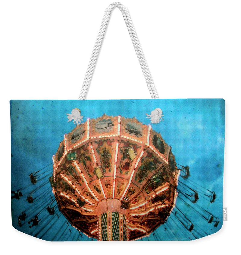 Blue Weekender Tote Bag featuring the photograph Blue Sky Swings by Gothicrow Images