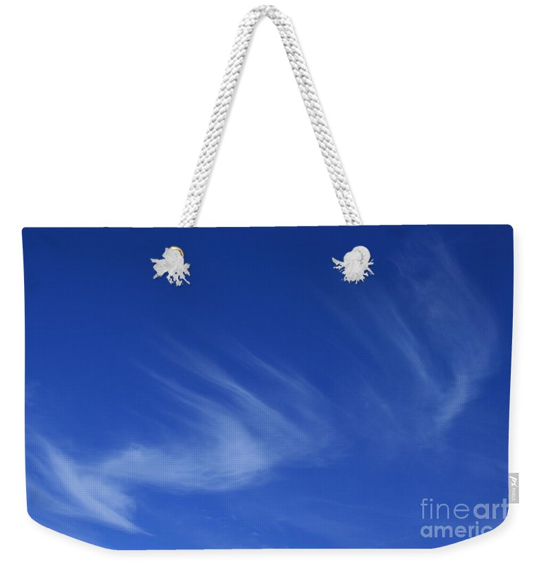 Blue Sounds To Echo Feeling Weekender Tote Bag featuring the photograph Blue Sounds To Echo Feeling by Sharon Mau