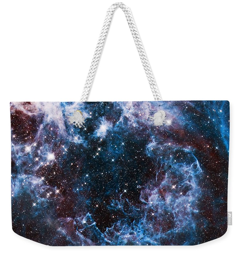 Nebula Weekender Tote Bag featuring the photograph Blue Storm by Jennifer Rondinelli Reilly - Fine Art Photography