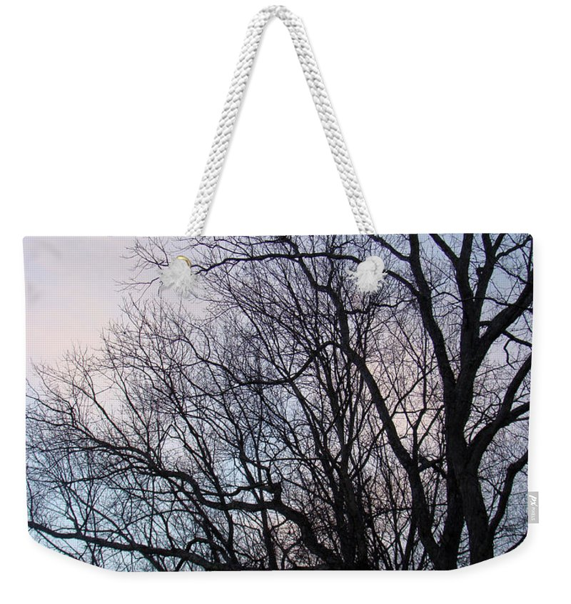 Trees Weekender Tote Bag featuring the photograph Blue Sunset by Mother Nature