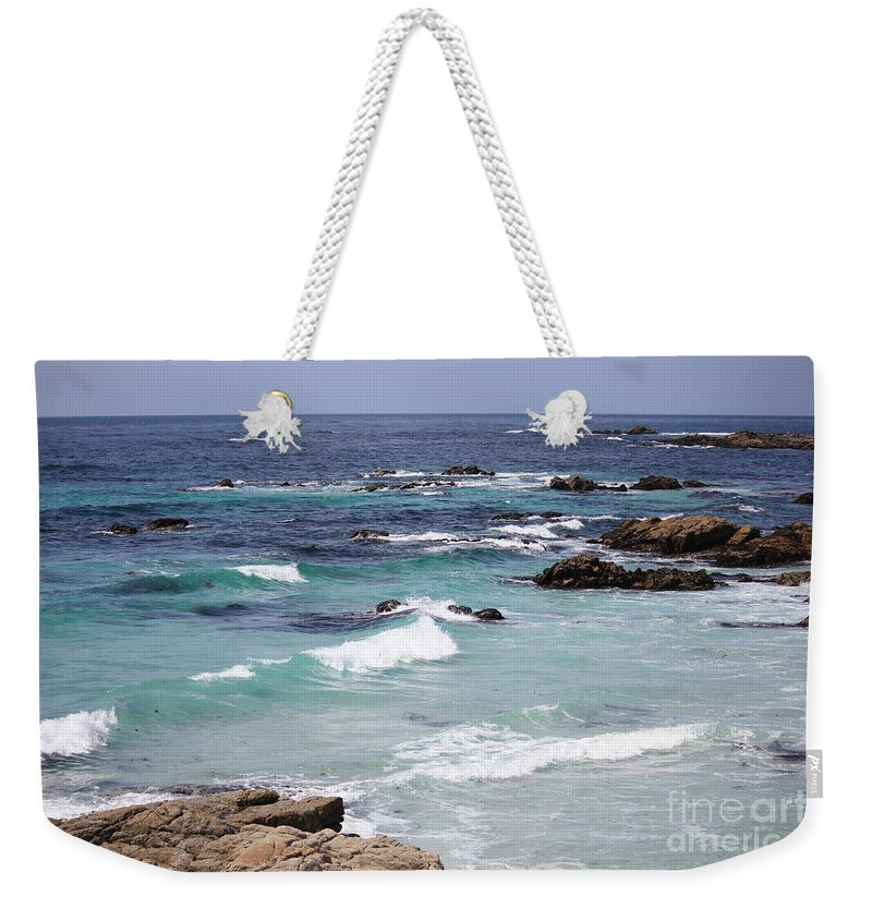 Blue Surf Weekender Tote Bag featuring the photograph Blue Surf by Carol Groenen