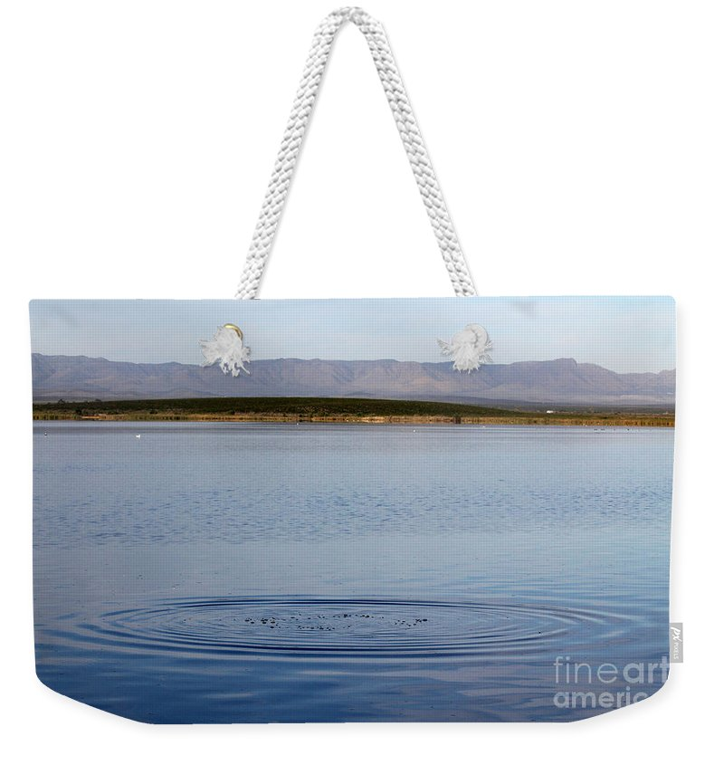 Photo Weekender Tote Bag featuring the photograph Blue Undulations by Alycia Christine