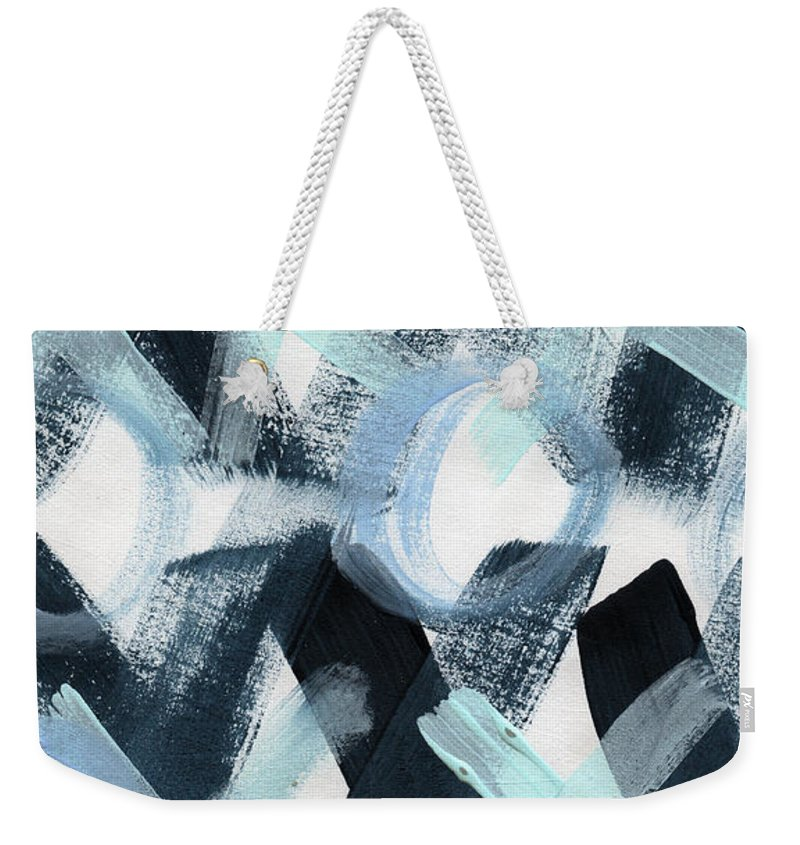 Love Weekender Tote Bag featuring the painting Blue Valentine- Abstract Painting by Linda Woods