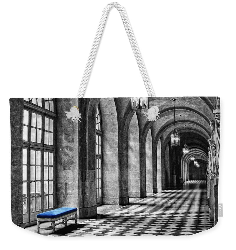 Chateau Weekender Tote Bag featuring the photograph Blue Velvet by Nikolyn McDonald