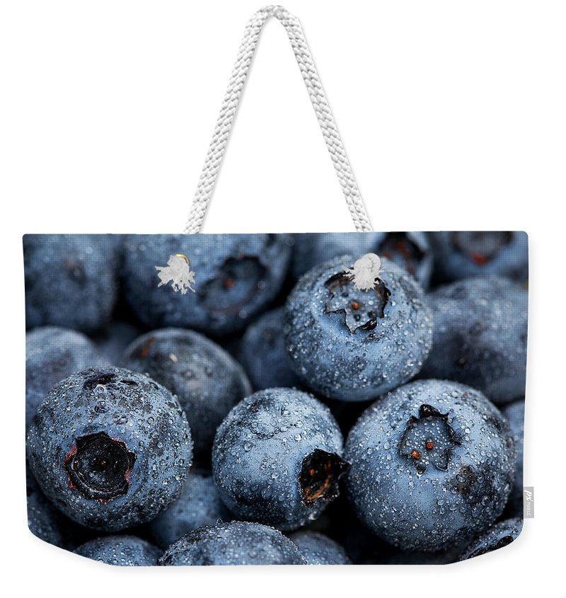 Surrey Weekender Tote Bag featuring the photograph Blueberries Fruits by Kevin Van Der Leek Photography