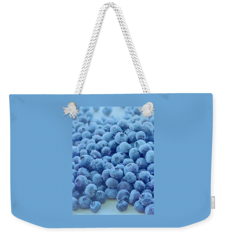 Berries Weekender Tote Bag featuring the photograph Blueberries by Romulo Yanes