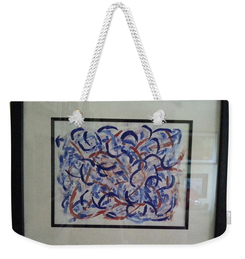 Framed Picture Weekender Tote Bag featuring the painting Blueberry Patch by Myrtle Joy
