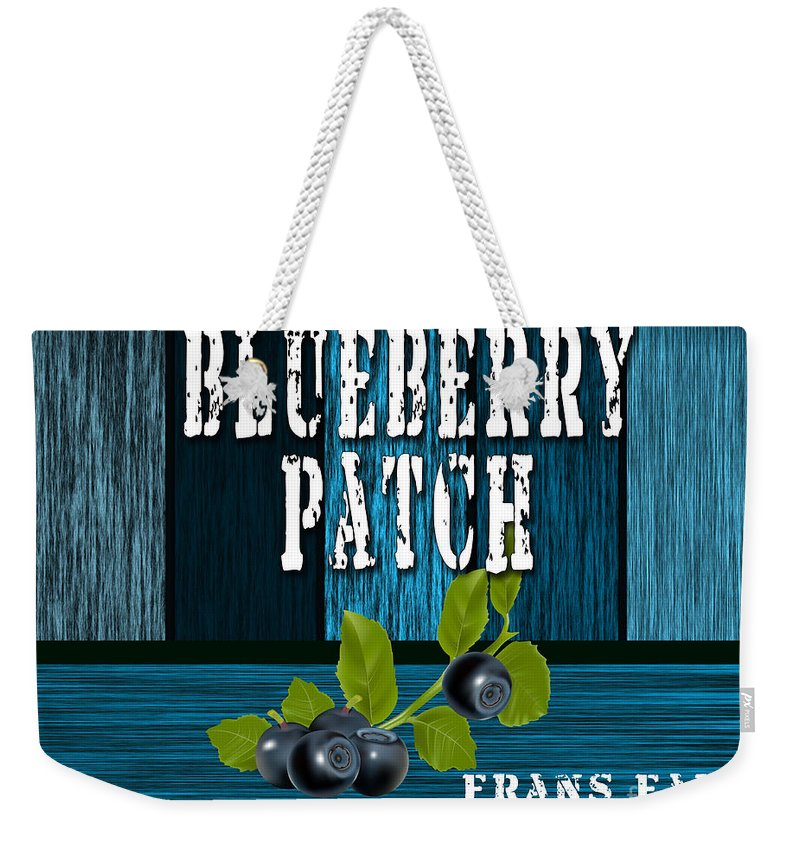 Blueberries Photographs Mixed Media Weekender Tote Bag featuring the mixed media Blueberrys by Marvin Blaine