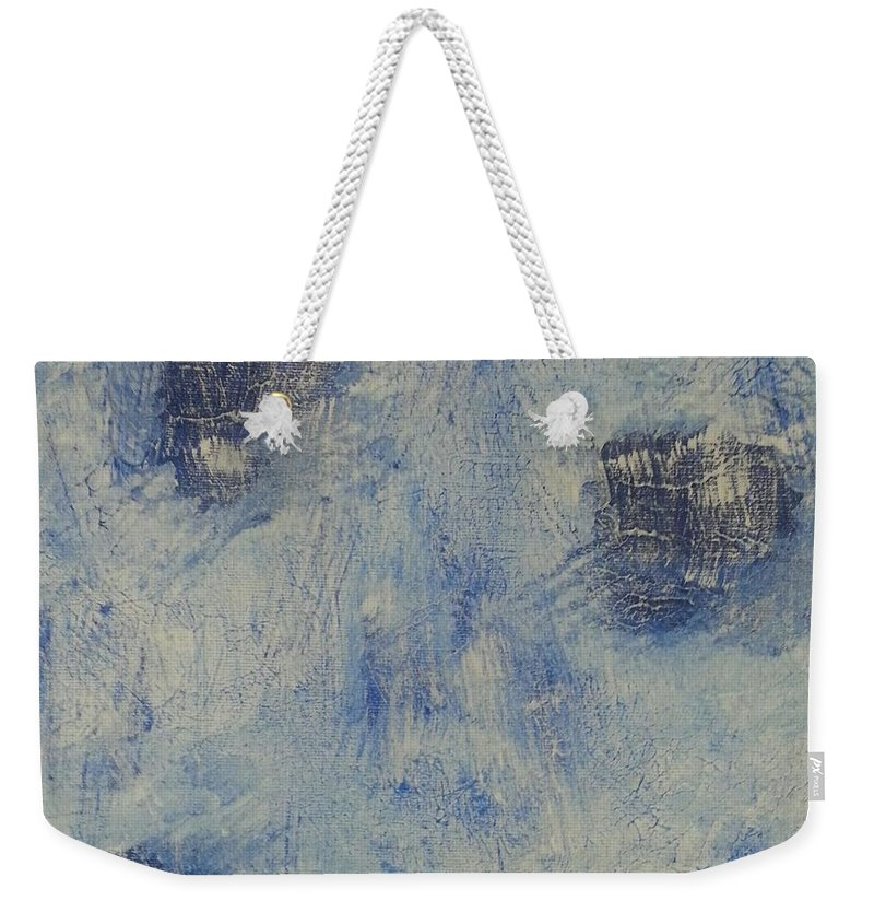 Acrylic Weekender Tote Bag featuring the painting Blueish by Mark Barcikowski