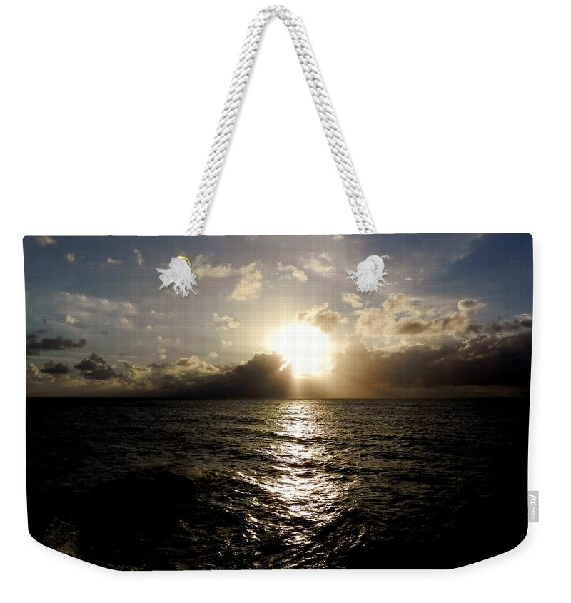 Color Weekender Tote Bag featuring the photograph Blues @ Evening by Amar Sheow
