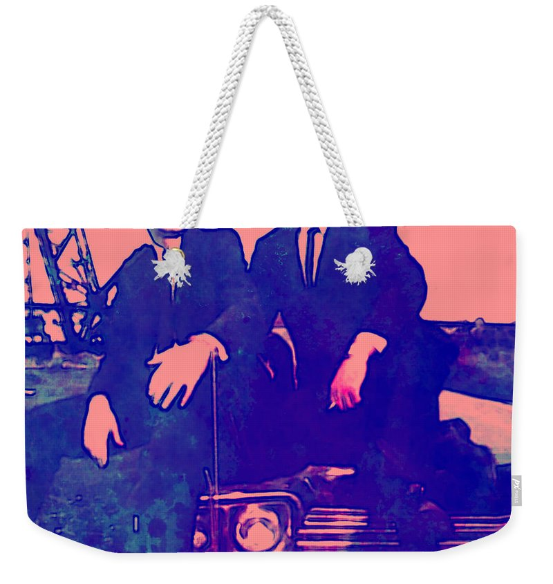 Blues Brothers Weekender Tote Bag featuring the digital art Blues Brothers 2 by Brian Reaves