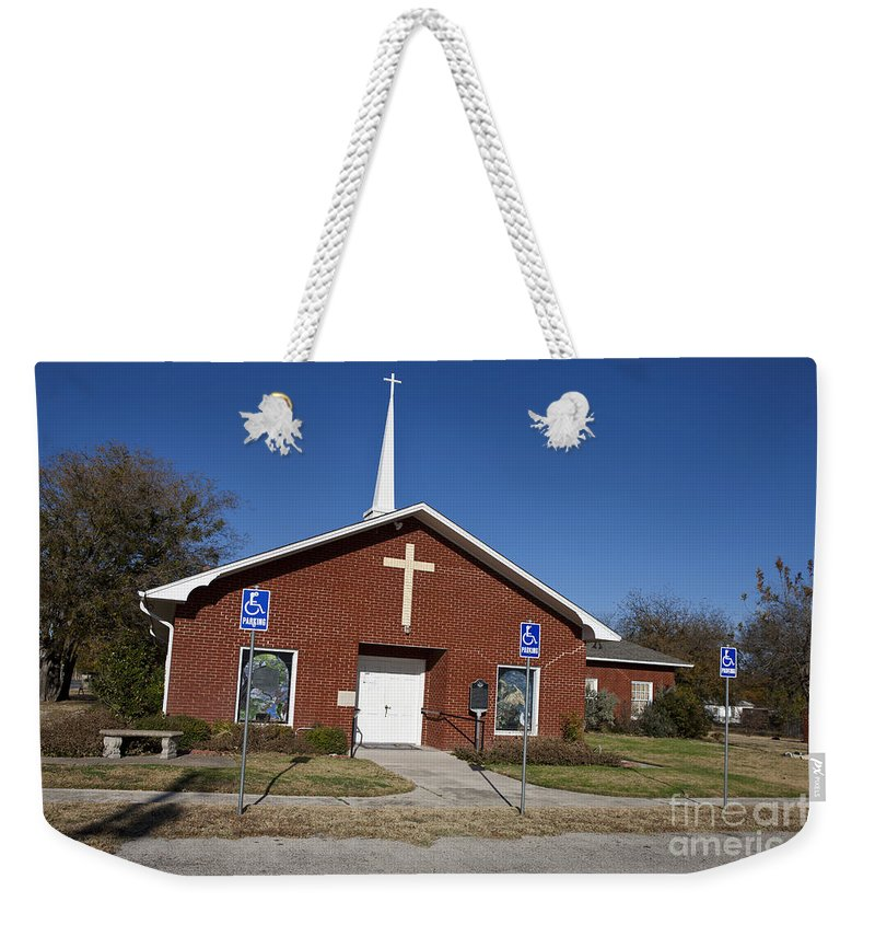 Bluff Dale Weekender Tote Bag featuring the photograph Bluff Dale United Methodist Church by Jason O Watson