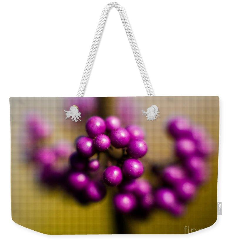 Beauty Berries Weekender Tote Bag featuring the photograph Blur Berries by Mike Reid