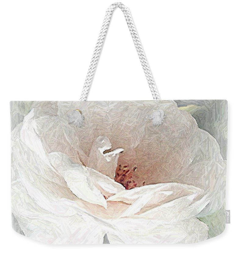Floral Weekender Tote Bag featuring the photograph Blush by Maureen J Haldeman