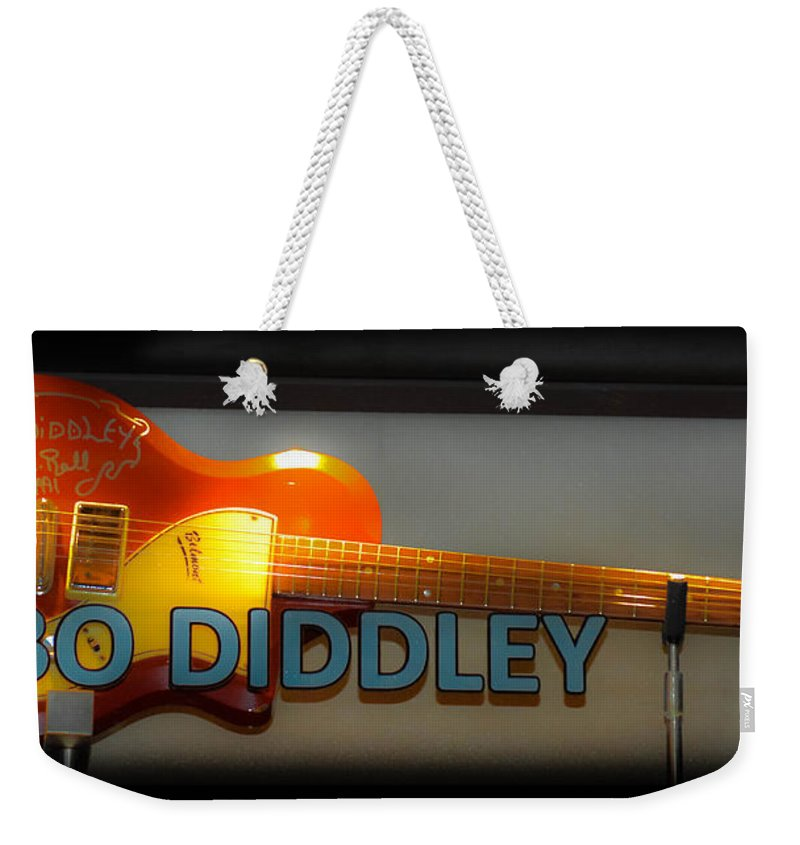 Bo Diddley Weekender Tote Bag featuring the photograph Bo Diddley's Guitar by Gary Keesler