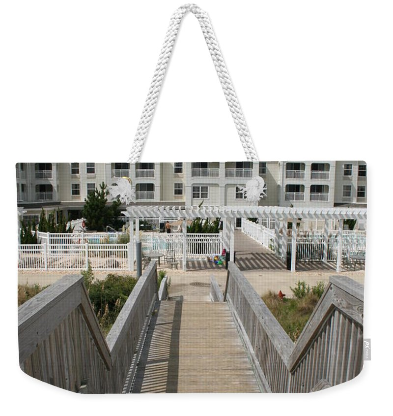 Boardwalk Weekender Tote Bag featuring the photograph Boardwalk by Christiane Schulze Art And Photography
