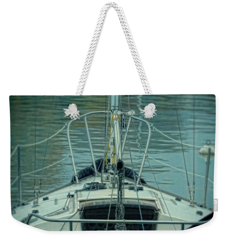 Ship Weekender Tote Bag featuring the photograph Boat by Jill Battaglia