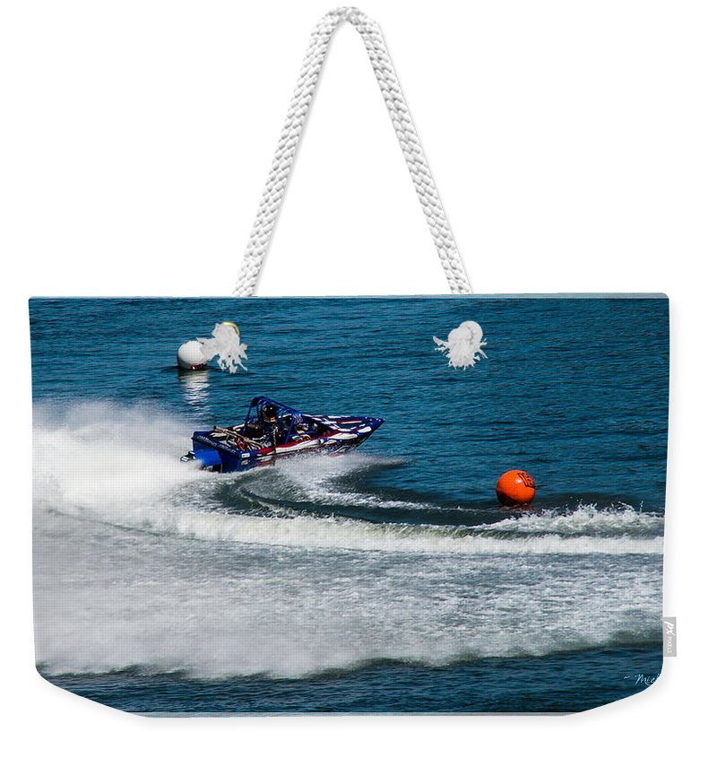 Boatnik Weekender Tote Bag featuring the photograph Boatnik Races 1 by Mick Anderson