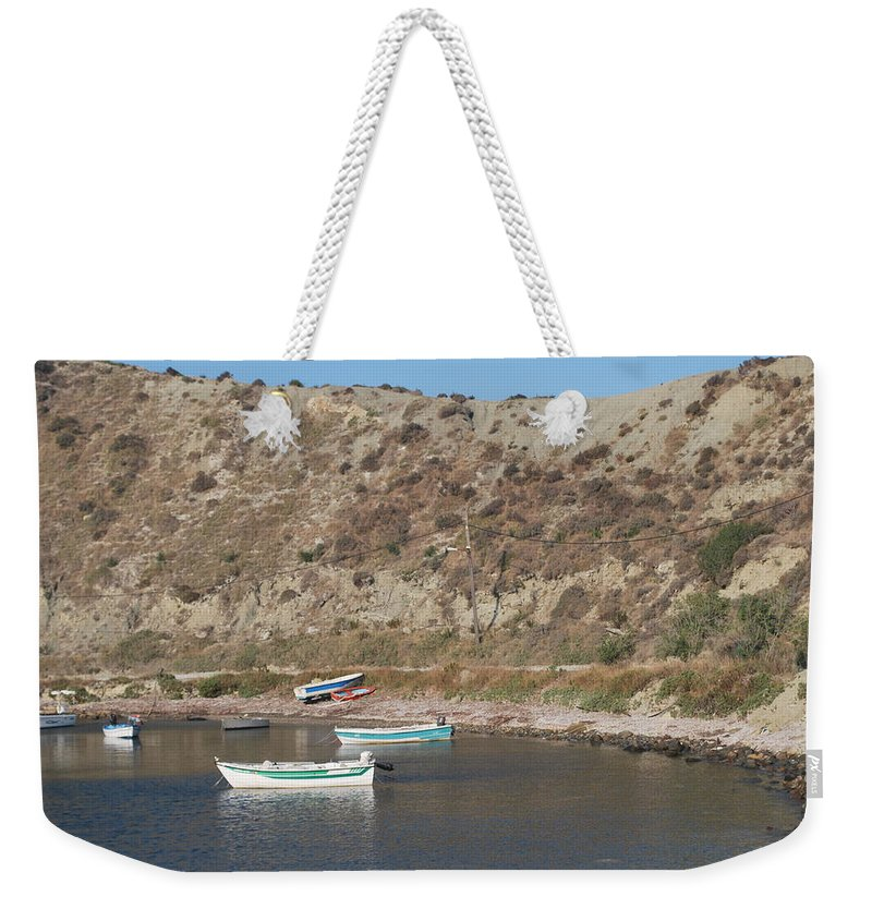 Boats Weekender Tote Bag featuring the photograph Boats by George Katechis