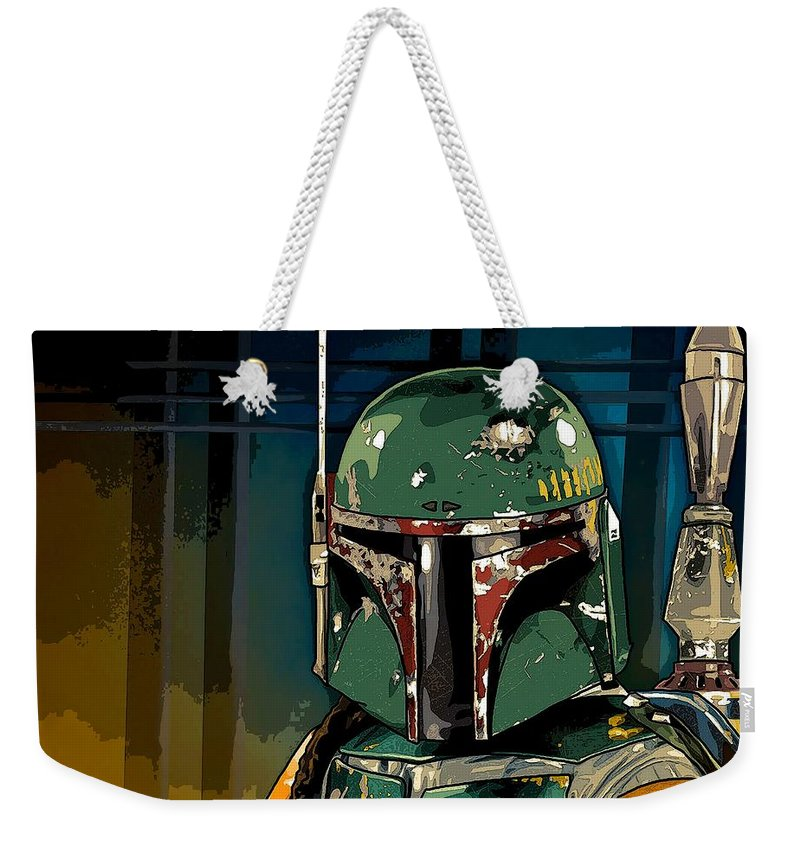 Star Wars Weekender Tote Bag featuring the photograph Boba Fett 2 by George Pedro