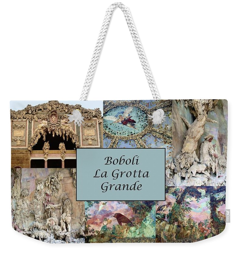 Boboli La Grotta Grande Weekender Tote Bag featuring the photograph Boboli La Grotta Grande 1 by Ellen Henneke