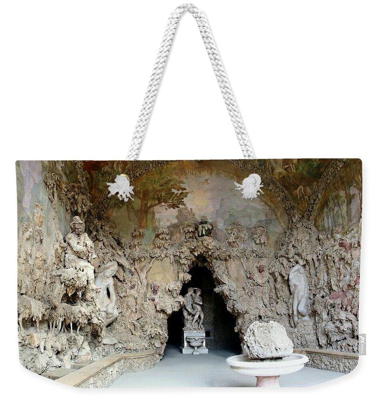 Boboli La Grotto Grande Weekender Tote Bag featuring the photograph Boboli La Grotta Grande 3 by Ellen Henneke