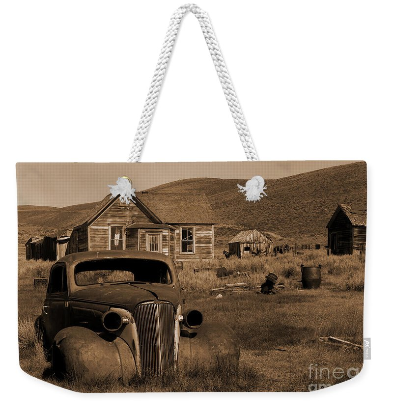 Car Weekender Tote Bag featuring the photograph Bodie  #72986 by J L Woody Wooden