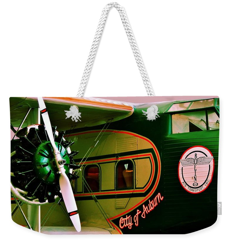Boeing Weekender Tote Bag featuring the photograph Boeing 80 by Benjamin Yeager