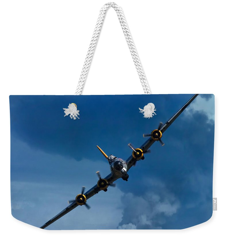 3scape Weekender Tote Bag featuring the photograph Boeing B-17 Flying Fortress by Adam Romanowicz