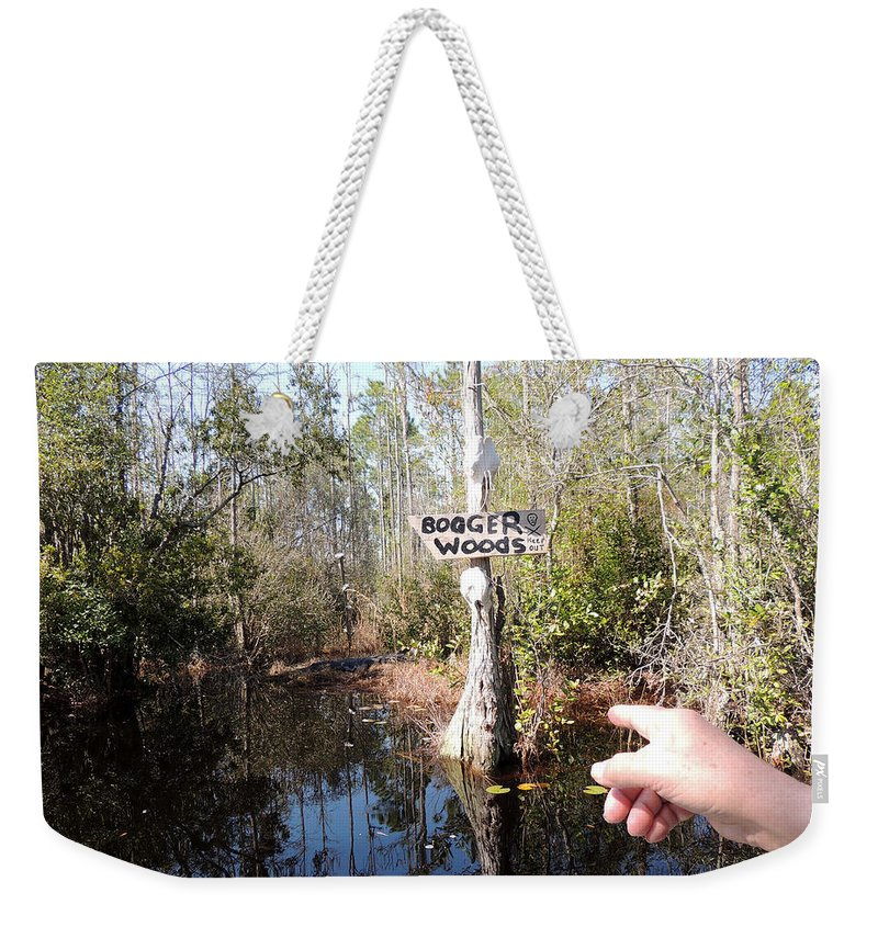 Digital Photography Weekender Tote Bag featuring the photograph Bogger Woods by Kim Pate