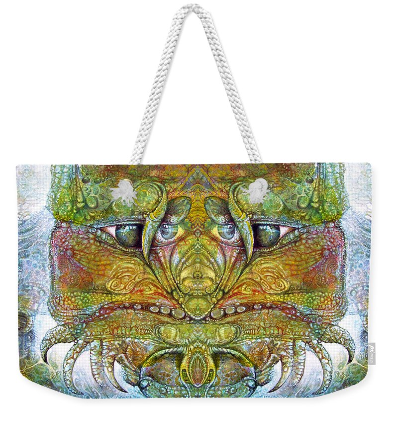\bogomil Variations\ \otto Rapp\ \ Michael F Wolik\ Weekender Tote Bag featuring the digital art Bogomil Variation 11 by Otto Rapp
