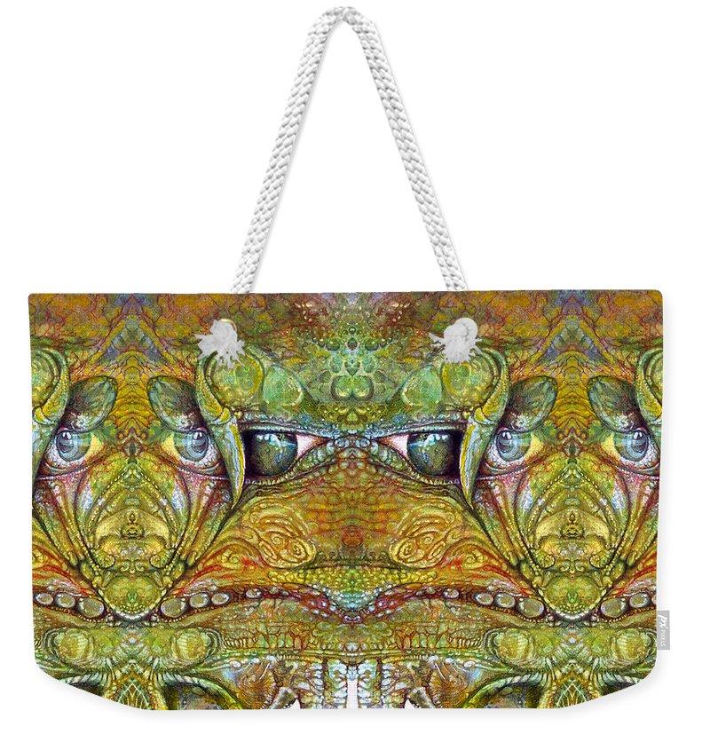 \bogomil Variations\ \otto Rapp\ \ Michael F Wolik\ Weekender Tote Bag featuring the digital art Bogomil Variation 12 by Otto Rapp